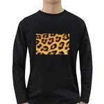Leopard Print	 Long Sleeve Dark T-Shirt