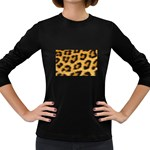 Leopard Print	 Women s Long Sleeve Dark T-Shirt