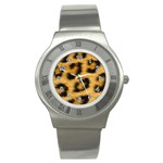 Leopard Print	 Stainless Steel Watch