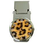Leopard Print	 Money Clip Watch