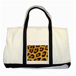 Leopard Print	 Two Tone Tote Bag