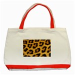 Leopard Print	 Classic Tote Bag (Red)
