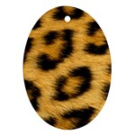 Leopard Print	 Oval Ornament (Two Sides)
