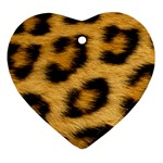 Leopard Print	 Heart Ornament (Two Sides)