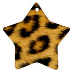 Leopard Print	 Star Ornament (Two Sides)