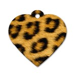 Leopard Print	 Dog Tag Heart (One Side)