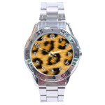 Leopard Print	 Stainless Steel Analogue Men's Watch