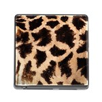 Giraffe Print Dark	 Memory Card Reader with Storage (Square)