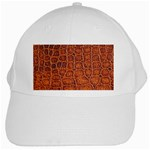 Crocodile Print	 White Cap
