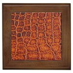Crocodile Print	 Framed Tile
