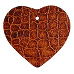 Crocodile Print	 Ornament (Heart)