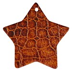 Crocodile Print	 Ornament (Star)