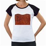 Crocodile Print	 Women s Cap Sleeve T