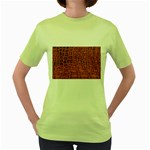 Crocodile Print	 Women s Green T-Shirt