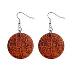Crocodile Print	 1  Button Earrings