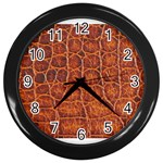 Crocodile Print	 Wall Clock (Black)
