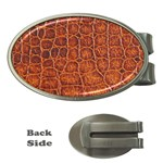 Crocodile Print	 Money Clip (Oval)