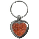 Crocodile Print	 Key Chain (Heart)