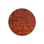 Crocodile Print	 Rubber Round Coaster (4 pack)