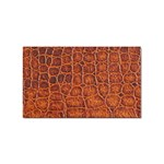 Crocodile Print	 Sticker Rectangular (100 pack)