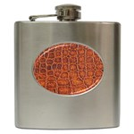 Crocodile Print	 Hip Flask (6 oz)