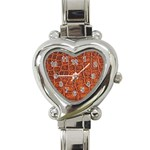 Crocodile Print	 Heart Italian Charm Watch
