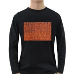 Crocodile Print	 Long Sleeve Dark T-Shirt