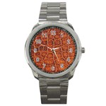 Crocodile Print	 Sport Metal Watch
