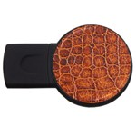 Crocodile Print	 USB Flash Drive Round (4 GB)
