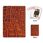 Crocodile Print	 Playing Cards Single Design