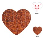 Crocodile Print	Playing Cards (Heart)