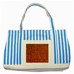 Crocodile Print	 Striped Blue Tote Bag