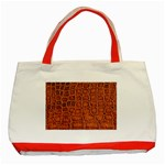 Crocodile Print	 Classic Tote Bag (Red)