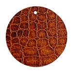 Crocodile Print	 Round Ornament (Two Sides)