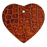 Crocodile Print	 Heart Ornament (Two Sides)