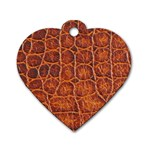Crocodile Print	 Dog Tag Heart (Two Sides)
