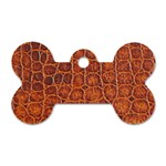 Crocodile Print	 Dog Tag Bone (One Side)
