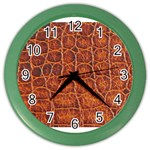 Crocodile Print	 Color Wall Clock