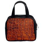 Crocodile Print	 Classic Handbag (Two Sides)