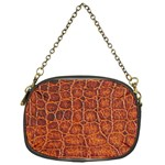 Crocodile Print	 Chain Purse (One Side)