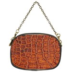 Crocodile Print	 Chain Purse (Two Sides)