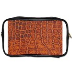 Crocodile Print	 Toiletries Bag (Two Sides)