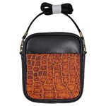 Crocodile Print	 Girls Sling Bag