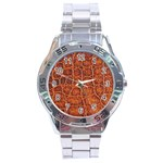Crocodile Print	 Stainless Steel Analogue Men's Watch