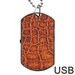 Crocodile Print	Dog Tag USB Flash (Two Sides)