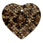 Snake Print	 Ornament (Heart)
