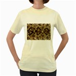 Snake Print	 Women s Yellow T-Shirt