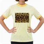 Snake Print	 Women s Fitted Ringer T-Shirt
