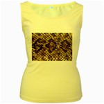 Snake Print	 Women s Yellow Tank Top