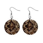 Snake Print	 1  Button Earrings